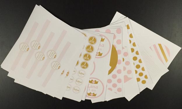 Kit de décoration anniversaire imprimé