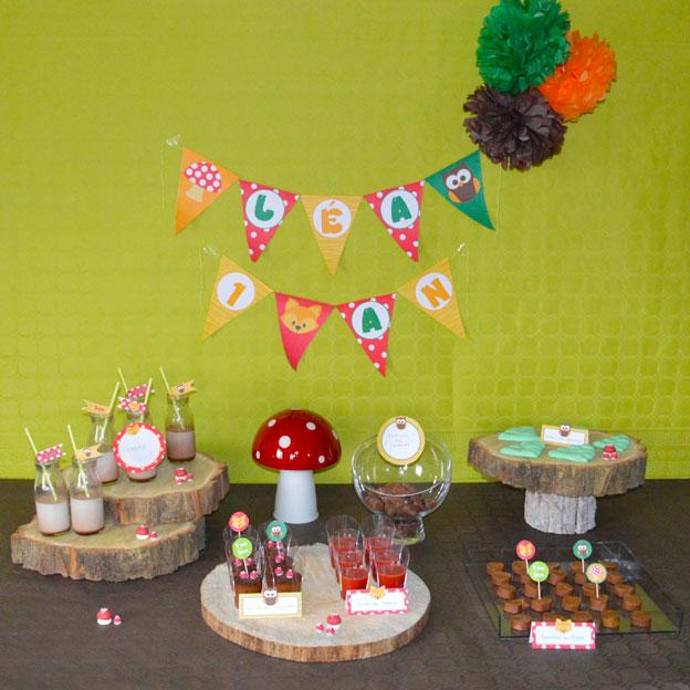Kit anniversaire b b 1 an th me for t petits trognons - Kit anniversaire bebe 1 an ...